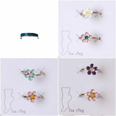 Adjustable Toe Ring Silver Tone 3 Designs Holiday Beach Festivals Foot Jewellery