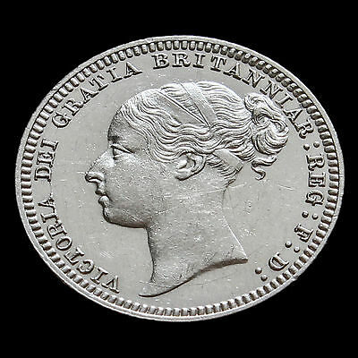 1879 Queen Victoria Young Head Silver Sixpence – Rare – G/EF