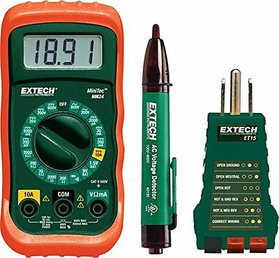 Extech MN24-KIT Electrical Test Kit, New, Free Shipping