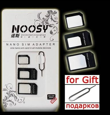 4 IN 1 NANO TO MICRO/STANDARD SIM CARD ADAPTER FOR ALL MOBILE - UK Seller