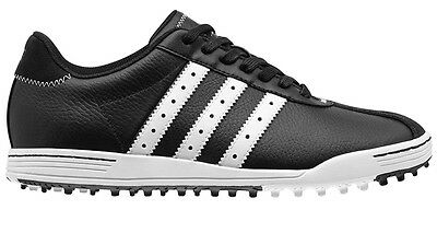 Adidas Adicross Classic Spikeless Leather Golf Shoe - Black - Multiple Sizes