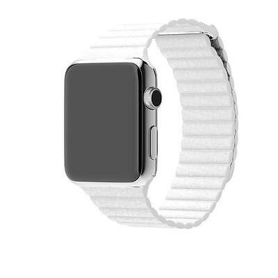 Mobiletto Apple Watch 38mm Magnetic Loop Armband weiß