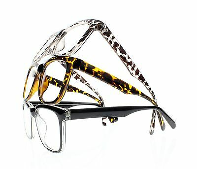 Men Womens Oversize Leopard Spring Hinges Reading Glasses Readers +1.00 to +4.00