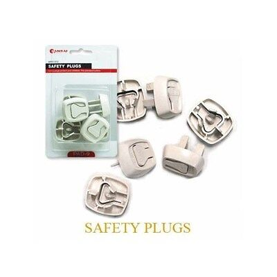 2 x SANSAI AU Electric Standard 12 Pcs Power Point Safety Plugs For Baby PAD-9