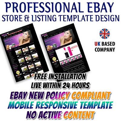 eBay Templates with Store Shop Listing Auction Template for Beauty & Cosmetic