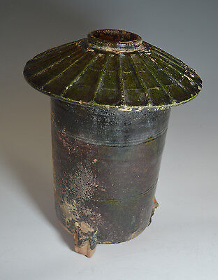 Ancient Chinese Han Pottery Granary Vessel (206 BC-220 AD) China 中国古董
