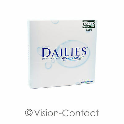 Focus Dailies Toric All Day Comfort 1 x 90 torische Tageslinsen von Alcon