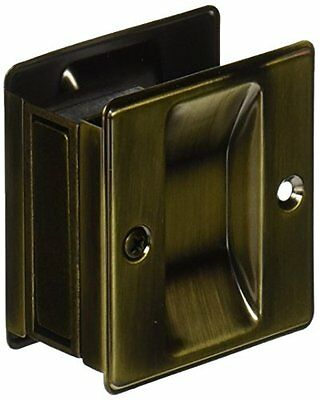 Slide-Co 163505 Pocket Door Passage Pull, Antique Brass, New, Free Shipping