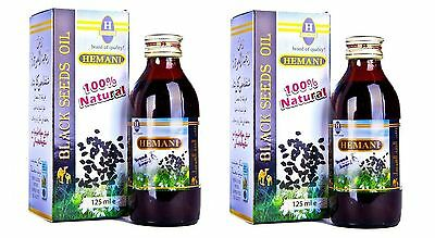 2 Black Seed Oil 100% Pure Virgin Cold Pressed Kalonji Nigella Sativa Hemani
