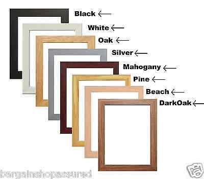 Photo Picture Frames Poster Frames Wooden Effect All Standard And Square Sizes