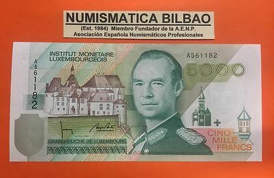Luxembourg 5000 Francs 1993 1996 Pick 60A @rare@ Xf Note Institut Monetaire