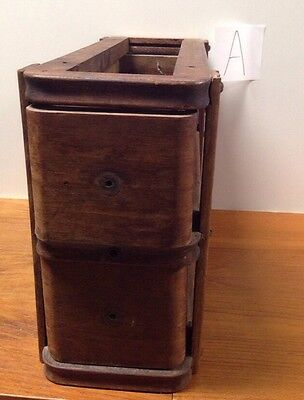 Antique Wood Double Drawer For Sewing Machine Accessories