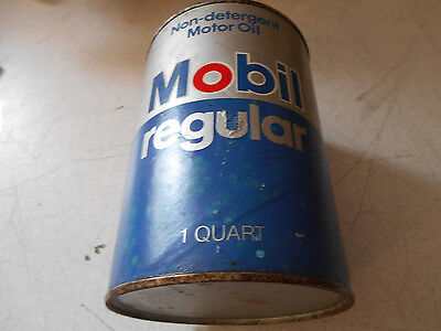 Vintage Mobil Regular Full Motor Oil Can