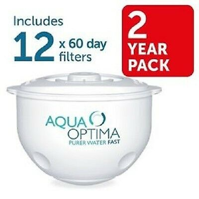 Fits All Aqua Optima Jugs SWP337 60 Day Water Filter 12 Pack 2 Year Supply NEW