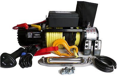 13000lb 12v recovery winch Synthetic rope Dyneema SK75 Off Road Land Rover