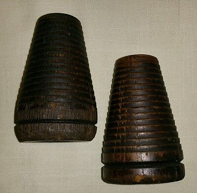 Wooden Sewing Thread Spool Candle Holders