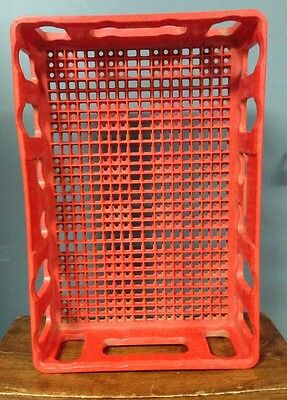 Vintage Red Plastic Coca-Cola Coke Stacking Bottle Carrier Case Crate - FLORIDA