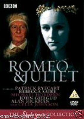 ROMEO AND JULIET BBC Shakespeare Collection DVD Patrick RyecartRebecca New UK R2