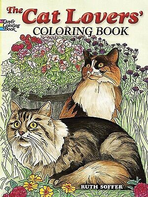 Adult Coloring Book Stress Art Relief Designs Colouring Books Cat Lovers Designs