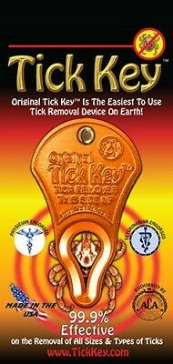 Tick Key, aluminium tick removal device.