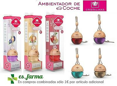 Cristalinas Air Freshener Car With Odor Absorbing 6Ml Without Alcohol.