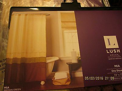 Lush Decor Mia Shower Curtain 72 X New
