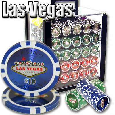 NEW 1000 PC Las Vegas 14 Gram Clay Poker Chips Set Acrylic Carrier Case Custom