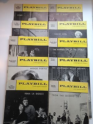 Playbill Magazine 10 Issues From 1961 Broadway Theater - See List