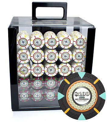 NEW 1000 PC Claysmith The Mint 13.5 Gram Clay Poker Chips Set Acrylic Carrier