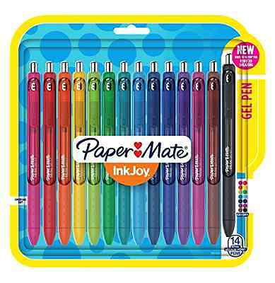 Paper Mate Inkjoy Gel Pens Medium Point Assorted 14-Pack Colorful Writing New .