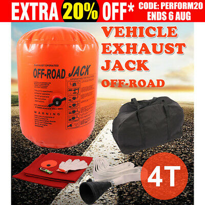 Air Jack Exhaust Tools 4 Tonne Multi Layer 4x4 Off-Road Car 4T Rescue 4WD Mud OZ