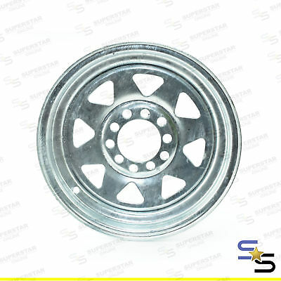 "13"" GALVANISED SUNRAYSIA MULTI FIT to suite  FORD & HOLDEN HT PATTERN STEEL WHEE"