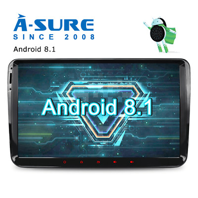 "A-Sure Android 8.0/8.1 VW Golf MK5 MK6 9"" Car Head Unit Stereo Sat Nav GPS DAB+"