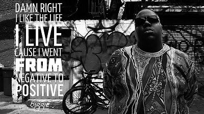 "033 The Notorious B.I.G - Biggie Smalls American Rapper Music 25""x14"" Poster"