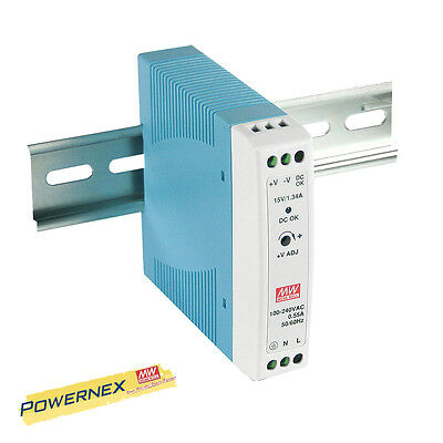 MEAN WELL [PowerNex] NEW MDR-20-24 24W DIN Rail Power Supply LED Driver