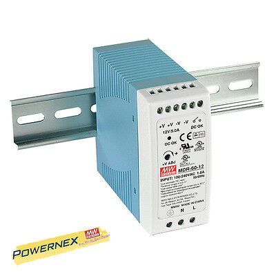 MEAN WELL [PowerNex] MDR-60-48 60W Industrial DIN Rail Power Supply BRAND NEW