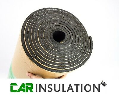 5m x 1m Roll Car Van Sound Proofing Deadening 6mm Insulation Closed Cell Foam UK