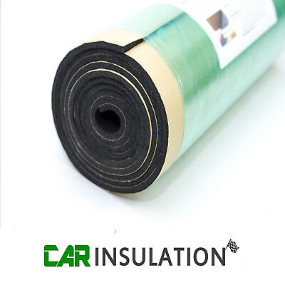 2m x 0.5m Car Van Sound Proofing Deadening 6mm Insulation Closed Cell Foam