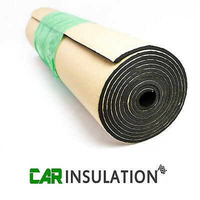 10m x1m Roll Self Adhesive Closed Cell Foam 10mm Car Sound Proofing Insulation