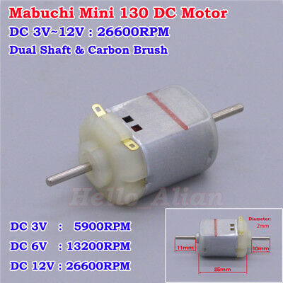 DC 1.5V 3V 3.7V 25000RPM High Speed 130 Motor RC HM Carbon brush Motor For DIY