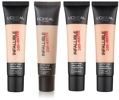L'Oreal Infallible 24H Matte Foundation 35ml- Available in 4 Shades