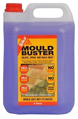 Sika Mould Buster 5L Patio Decking Driveway Cleaner Moss Algae Garden Yard