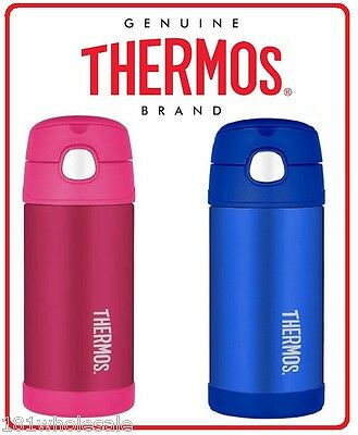 Thermos STAINLESS STEEL Vacuum Insulated Drink Bottle 355ml Funtainer Pink Blue