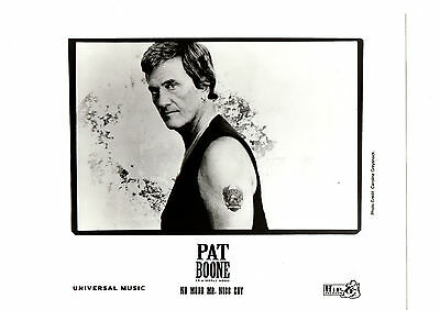 "Pat Boone 8x10"" Original Glossy Black & White Band Promo Photo FREE SHIPPING"