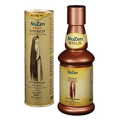 Nuzen Gold Herbal Hair Oil Promotes Hair Growth & Regrows New Hair 100ml