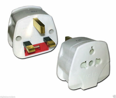 US/EU To UK Travel Adapter Plug 250v AC 13amp Black