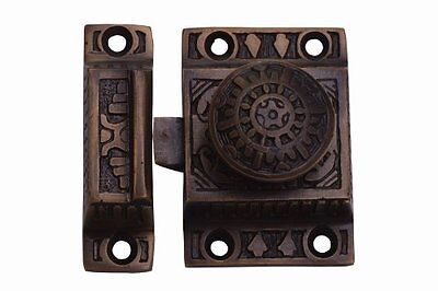 A29® Cabinet Latch, Solid Brass, Handmade, Antique Brass Finish, 1-Pack, New, F
