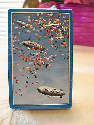 """Redislip Goodyear Tire & Rubber """"Blimp"""" Playing Cards  Trimmed in Blue..... New"""