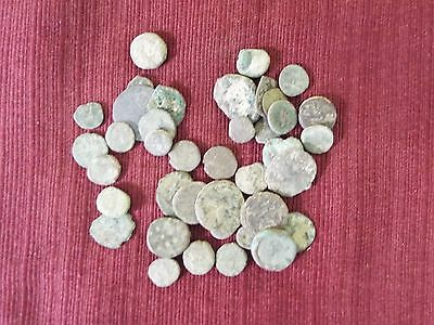 45 Authentic Ancient Greek, Roman, Holy Land, Byzantine & Medieval Coins