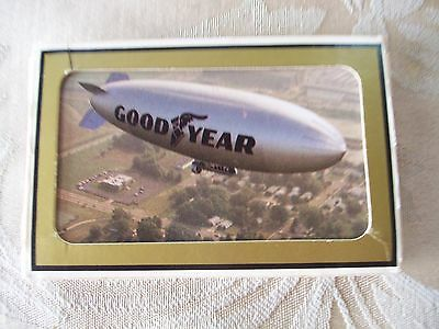 """Gemaco Trademark Goodyear Tire & Rubber """"Blimp"""" Playing Cards......Preowned"""